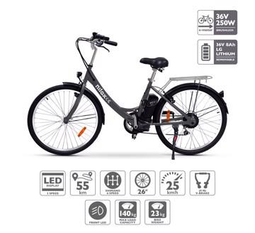 Εικόνα της NILOX DOC E-BIKE X5 BLACK Ηλεκτρικό ποδήλατο