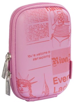Picture of RivaCase 7023 (PU) DAVOS Digital Case pink (newspaper) Θήκη φωτογραφικής μηχανής
