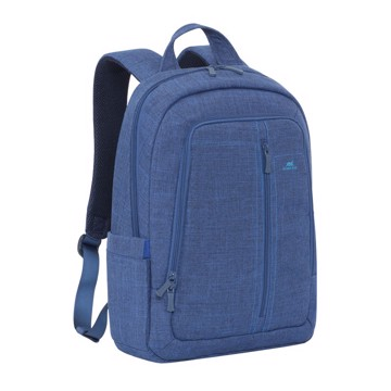 """Εικόνα της RivaCase 7560 Alpendorf Laptop Canvas Backpack 15.6"""" blue Τσάντα μεταφοράς Laptop"""