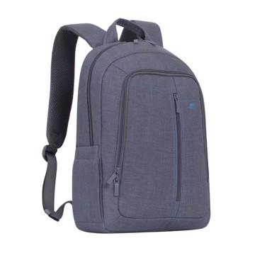"""Εικόνα της RivaCase 7560 Alpendorf Laptop Canvas Backpack 15.6"""" grey Τσάντα μεταφοράς Laptop"""