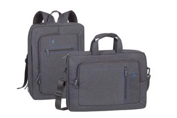 """Εικόνα της RivaCase 7590 Alpendorf grey Laptop transformer bag 16"""" Τσάντα μεταφοράς Laptop"""