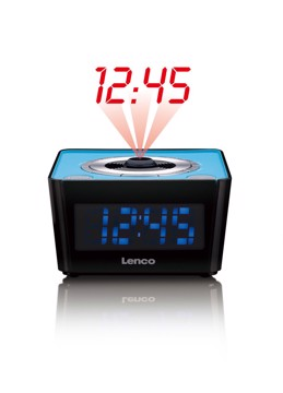 Picture of Lenco CR-16 Blue - Radio controlled FM clock radio with projector - Blue