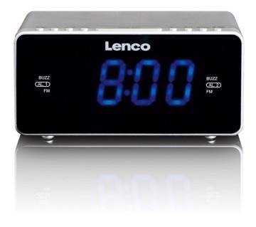 Picture of LENCO CLOCK RADIO CR-520 SILVER Ράδιοξυπνητήρι