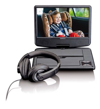 Picture of LENCO PORTABLE DVD DVP-910 BLACK Συσκευή αναπαραγωγής DVD