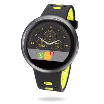Picture of MYKRONOZ ZEROUND2HR PREMIUM BRUSHED BLACK/BLACK & YELLOW (SILICONE BAND) Smartwatch