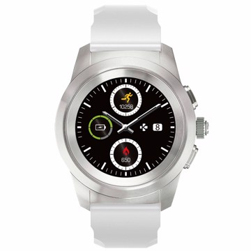 Picture of MYKRONOZ ZETIME ORIGINAL LINE BRUSHED SILVER/ WHITE SILICON Smartwatch