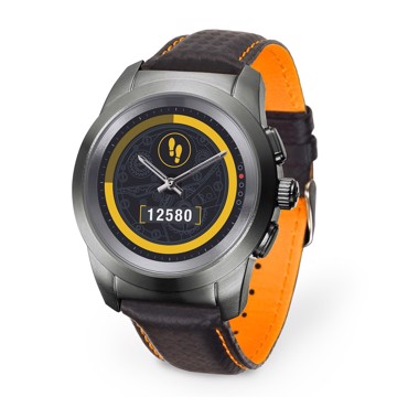 Picture of MYKRONOZ ZETIME PREMIUM LINE BRUSHED TITANIUM/BLACK CARBON ORANGE STITCHING Smartwatch