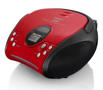 Εικόνα της LENCO BOOMBOX SCD-24 RED/BLACK Φορητό ράδιo/CD