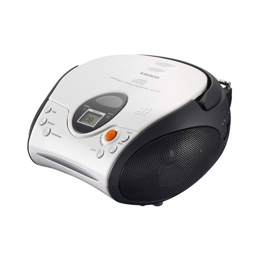Picture of Lenco SCD-24 white - Portable stereo FM radio with CD player - White