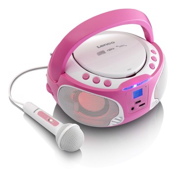 Picture of LENCO BOOMBOX SCD 650 PINK Φορητό ράδιo/CD