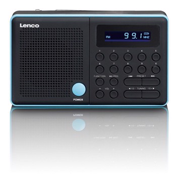 Picture of Lenco MPR-034BU - Portable FM radio with USB and Micro SD and integrated battery - Blue