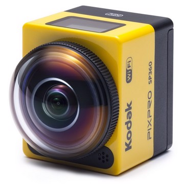 Picture of  Action camera with spherical curved 360 ° lens, 16 MP CMOS, Full HD resolution and accessories