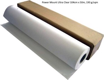 Εικόνα της Power Mount Ultra Clear 104cm x 50m, 190 g/sqm
