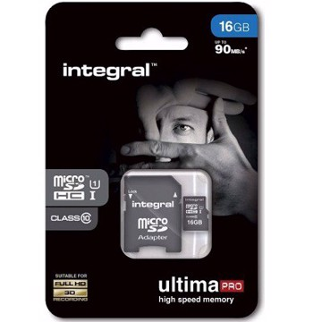 Εικόνα της INTEGRAL ULTIMAPRO MICROSDHC/XC 90MB CLASS 10 UHS-I U1 - 16GB (with Adapter to SD Card) Κάρτα μνήμης