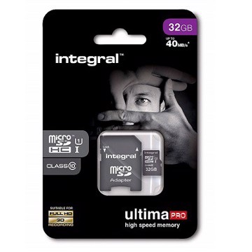 Εικόνα της INTEGRAL ULTIMAPRO MICROSDHC/XC 90MB CLASS 10 UHS-I U1 - 32GB (with Adapter to SD Card) Κάρτα μνήμης