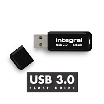 Εικόνα της INTEGRAL USB Flash Drive Black 3.0 - 128GB Μαύρο