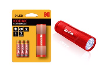 Εικόνα της KODAK FLASHLIGHT RED 9-LED + 3xAAA EHD Φακός