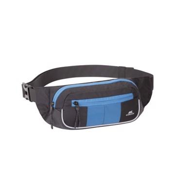 Picture of RivaCase 5215 black/blue Waist bag for mobile devices Τσάντα μέσης Μαύρο/μπλε