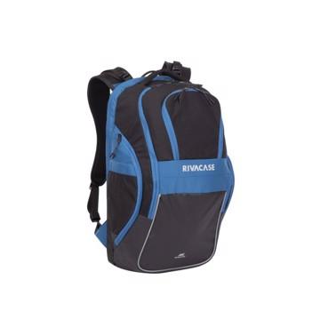 """Εικόνα της RivaCase 5225 Mercantour black/blue 20L Laptop backpack 15.6"""" Σακίδιο πλάτης Μαύρο-Μπλε"""