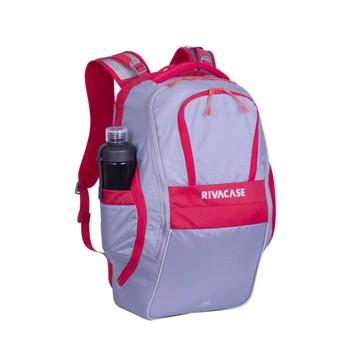 """Εικόνα της RivaCase 5225 Mercantour grey/red 20L Laptop backpack 15.6"""" Σακίδιο πλάτης Γκρι-Κόκκινο"""