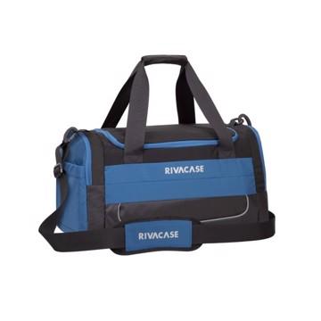 Εικόνα της RivaCase 5235 Mercantour black/blue 30L Duffle bag Σακβουαγιάζ Μαύρο-Μπλε