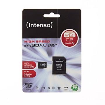 Εικόνα της Intenso Micro SD Card 64GB SDHC Class 10  Κάρτα μνήμης