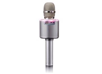 Εικόνα της LENCO BMC-085 Silver Karaoke Microphone με Bluetooth