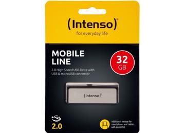 Εικόνα της Intenso® USB Drive 2.0 - MOBILE LINE - 32GB + Micro USB port
