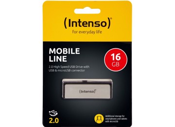 Picture of Intenso® USB Drive 2.0 - MOBILE LINE - 16GB + Micro USB port
