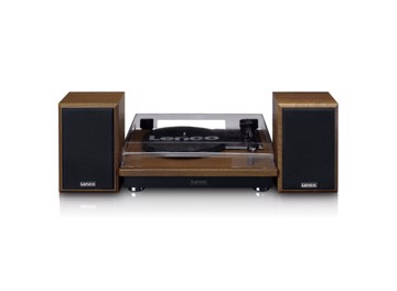 Picture of LENCO LS-100 OAK TURNTABLE WITH SIDE SPEAKERS