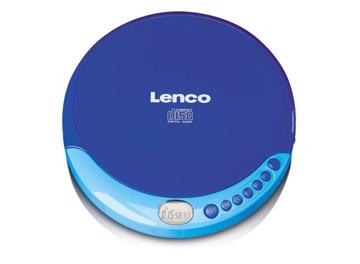Εικόνα της Lenco CD-011 Blue Φορητό CD player Discman μπαταρίας με ακουστικά